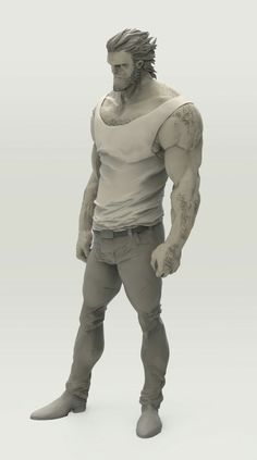comic character drawings Wolverine, Larry Hoover on ArtStation at… - 3d Model Character, Character Modeling, Character Drawing, Character Illustration, Comic Character, Character Concept, Concept Art, Heros Comics, Marvel Comics