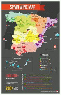 Mapa español del vino