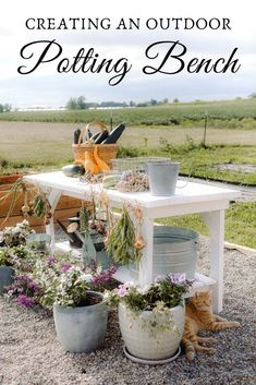 We love this potting bench that we created from a workbench! Come see the change we made and where we got it. #gardening #garden #pottingbench #pottingflowers #containergardening #homesteading #homestead #farmhouse #farmhousestyle #sugarmaplefarmhouse #DIY #outdoorpottingbench #doityourself #craftideas #gardenideas #gardenDIY #gardencrafts #gardening101 #planting #gardenplanning Outdoor Potting Bench, Garden Crafts, Diy Crafts, Small Farm, Plants, Big Picture, Garden Planning, Create, Container Gardening