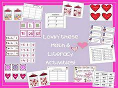 Valentine Math & Literacy Centers!! first grade