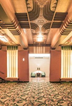 The Paramount Theatre in Oakland, CA. Completed in 1931, it is one of the finest remaining examples of Art Deco design in the U.S. #ArtDeco #MostBeautifulArchitecture