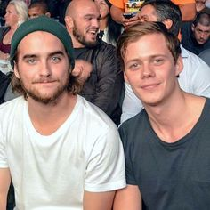 The handsome blokes of Hemlock Grove: Bill Skarsgard and Landon Liboiron