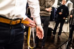 Measuring the wrist for made-to-measure shirt. Photo (c) Risto Kantola Made To Measure Shirts, Tailor Made Shirts