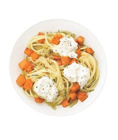 Spaghetti With Sweet Potatoes and Ricotta Recipe