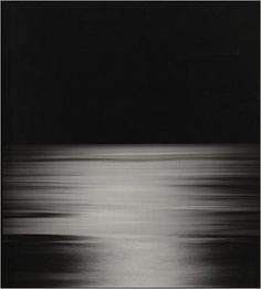 Hiroshi Sugimoto: Seascapes: For more than 30 years has traveled the world photographing its seas, producing an extended meditation on the passage of time and the natural history of the earth reduced to its most basic, primordial substances: water and air. Always capturing the sea at a moment of absolute tranquility, Sugimoto has composed all the photographs identically, with the horizon line precisely bifurcating each image.