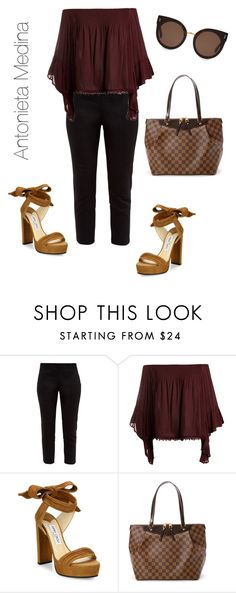 """""""Untitled #274"""" by antoo-xoxo on Polyvore featuring Ted Baker, Sans Souci, Jimmy Choo, Louis Vuitton and STELLA McCARTNEY"""