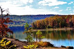 Fall Colors, Fall, Colors, Lake, Water, Ft Smith, AR, Photo, Photography by LittleMomentsPhotos on Etsy