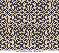 Luxurious floral pattern. Gold and black blue ornament. Graphic modern pattern. Seamless background.
