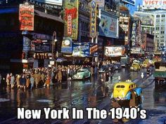 Viewing NYC is a site that features videos and photos of the art, comedy, culture, food, history and events of New York City. New York City, New York Street, 42nd Street, Vintage New York, Old Pictures, Old Photos, Funny Pictures, Famous Photos, Vintage Prints