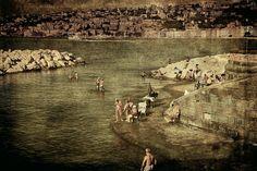 Having a swim in Naples - null