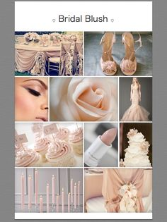 Pretty nudes and blush tones #moodboard