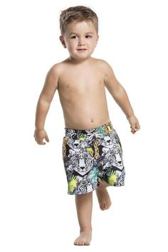 The designer jungle print on the Agua Bendita Vuelo will have your boy asking to wear it every time. #boysswimwear #kidsswimwear #designerkids