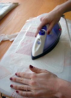 Fusing Plastic - tutorial  Plastic for homemade bags of all kinds.  This is REALLY neat