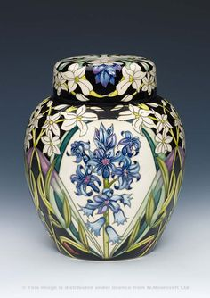 Moorcroft Pottery Collections available from The Sissons Gallery Hand Painted Pottery, Pottery Painting, Pottery Art, Arts And Crafts Movement, Ginger Jars, Hobby, Barrels, Art World, Ceramic Art