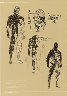 Metal Gear Solid 4 Yoji Shinkawa concept art