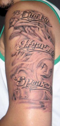 Clown Face Tattoo, Evil Tattoos, See No Evil, Clown Faces, Evil Clowns, Tattoo Designs, Pictures, Photos, Tattooed Guys