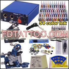 Tattoo Kit 2 Guns Needles Inks Grips Power Supply Wholesale Price:US $49.13 Professional Tattoo Kits, Tattoo Equipment, Tattoo Needles, Tattoo Supplies, Tattoo Machine, New Tattoos, Tattoo Artists, 2 Guns, Ink
