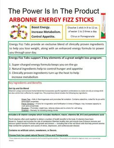 The power of energy is in the fizz! Order some. Go to http:// lidiaepel.arbonne.com