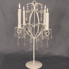 This stunning wedding candelabra quick and easy wedding centerpiece for your wedding reception or special event.