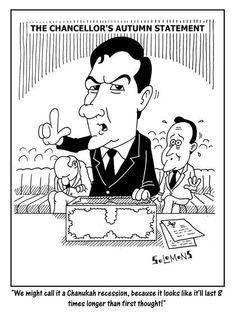 Cartoon for The Jewish News by Paul Solomons. George Osborne, David Cameron and the Conservatives.
