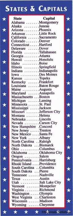 States & Capitals/Presidents Bookmark Images - Rainbow Resource Center, Inc. Us History, History Facts, American History, Senior Games, States And Capitals, Rainbow Resource, Study Tips, Good To Know, Kids Learning