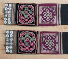A Pair of Mongolian Etuis for the Plaits (sirbegel) Mongolia, 19/20th century 11x113cm Cloth, metal, buttons b+ee Please have a look at my website www.m-beste.de for more textiles, jewellery, statues, objects and tribal art from Asia.