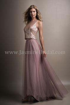 Jasmine Bridal - Belsoie Style L194006 in Sequin/Soft Tulle, color Light Gold/Sandbar