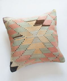 Faded Pastel Kilim Pillow