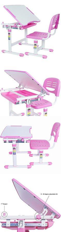 Desks 115750: Height Adjustable Children Desk And Chair Premium Set Kid Interactive Work Station -> BUY IT NOW ONLY: $152.35 on eBay!