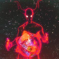 Devil Aesthetic, Aesthetic Gif, Trippy Visuals, Gif Terror, Future Earth, Vaporwave Art, Satanic Art, Scary Art, Retro Futurism
