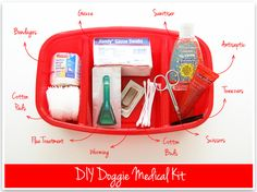 Be prepared for anything that happens to your pet with this home medical kit via http://iheartorganizing.blogspot.com/2012/01/iheart-diy-doggie-at-home-medical-kit.html# #shopko