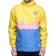 e78adf973ecf Odd Future OF Grey   Pink Anorak Jacket