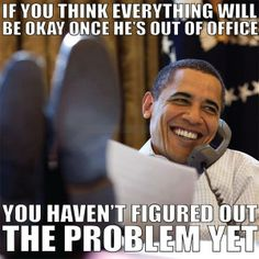 If you think everything will be okay once Obama's out of office... you haven't figured out the problem yet. #EXSECUTIVEORDERS #POLICESTATE #TYRANNY