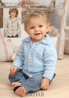 Jackets in Sirdar Snuggly DK - 1782. Discover more Patterns by Sirdar at LoveKnitting. The world's largest range of knitting supplies - we stock patterns, yarn, needles and books from all of your favorite brands.