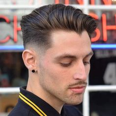 Long Comb Over Low Fade