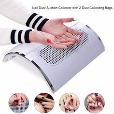 Biutee Powerful Nail Dust Suction Collector with 3 Fan Vacuum Cleaner Manicure Tools with 2 Dust Collecting Bags (32803076442)  SEE MORE  #SuperDeals
