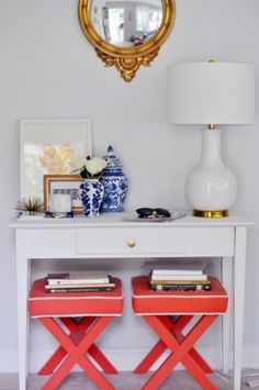 Style Within Reach: Decorating: The Audrey Lamp // Lulu & Georgia // entryway // x benches // Caitlin Moran // #decor