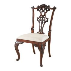 Aged Regency Mahogany Chippendale Side Chair