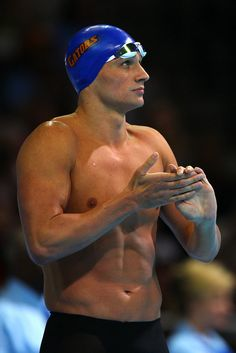 Olympic swimmer Ryan Lochte shirtless