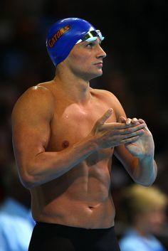 Olympic swimmer Ryan Lochte shirtless
