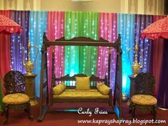 The mehndi night for my sister was a pretty affair, we had an Arabic style to the decor, but a very Punjabi style of dholki, dancing and mus. Morrocan Theme Party, Moroccan Theme, Mehndi Stage, Mehndi Night, Arabian Decor, Bollywood Bridal, Bollywood Party, Top Wedding Trends, Wedding Ideas