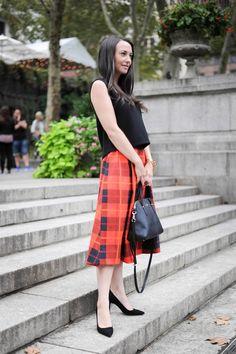 Kate Spade Plaid Midi Skirt