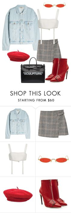 """#21"" by jade-bbaluch ❤ liked on Polyvore featuring Yeezy by Kanye West, MANGO, Georgine, Gentle Monster, Brixton, Alexander McQueen and Off-White"