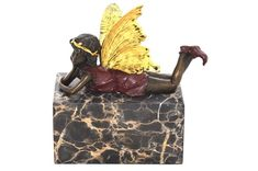 An elegant, classical bronze marble bookend. Made with real cast bronze! Nymph, New Product, Bookends, It Cast, Fairy, Bronze, Angel, Joy, Gifts