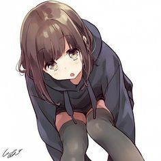 anime girl hoodie only Dibujos Anime Chibi, Cute Anime Chibi, Cute Anime Pics, Anime Neko, Cool Anime Girl, Anime Art Girl, Manga Art, Loli Kawaii, Kawaii Anime Girl