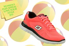 Need the perfect shoe for your summertime strolls? Try the Women's Flex Appeal - Love Your Style in Pink!