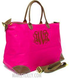 Monogrammed Champ Pink Weekend Travel Bag