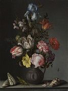 "New artwork for sale! - "" Flowers In A Vase With Shells And Insects by Balthasar van der Ast "" - http://ift.tt/2njMd8I"