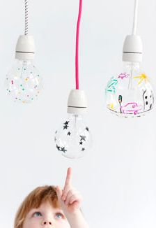 Zelfgemaakte en beschilderde lampjes | Selfmade lights
