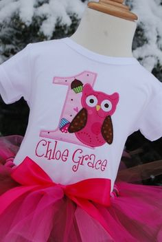 Personalized Birthday Girl Owl TShirt Design Your by TwoKangaroos, $33.00